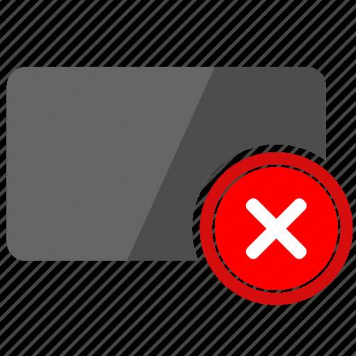 card, close, credit, delete, exit, operation icon