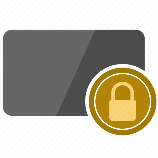 card, credit, lock, safety, security icon
