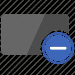 card, credit, erase, minus, operation icon