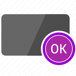 card, complete, credit, ok, operation icon