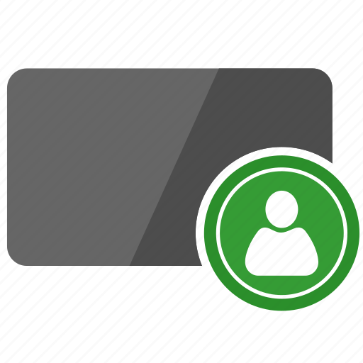 authorization, card, credit, login, man, person, user icon