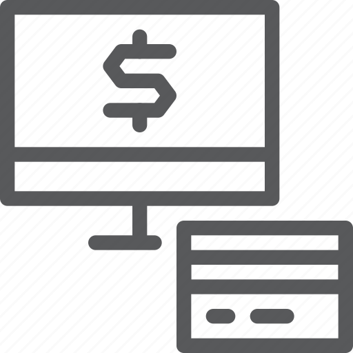 business, card, credit, debit, money, online, payment, pc icon
