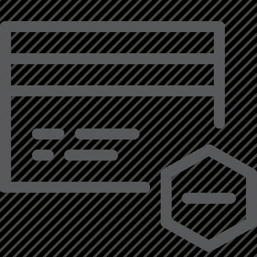 business, card, credit, debit, money, online, payment, remove icon