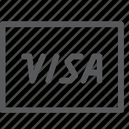 business, card, credit, debit, money, online, payment, visa icon