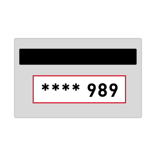 Credit card, csc, cv2, cvc, cvv, security code icon