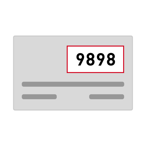credit card  csc  cv2  cvc  cvv  security code icon