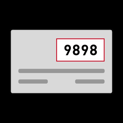 credit card, csc, cv2, cvc, cvv, security code icon