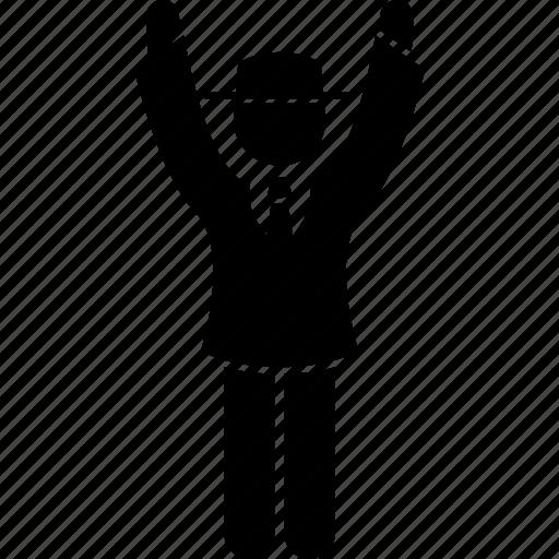 boundary 6, cricket, hand, referee, signal, umpire icon