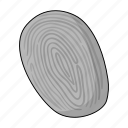 crime, dacteloscopy, evidence, finger, imprint, trace icon