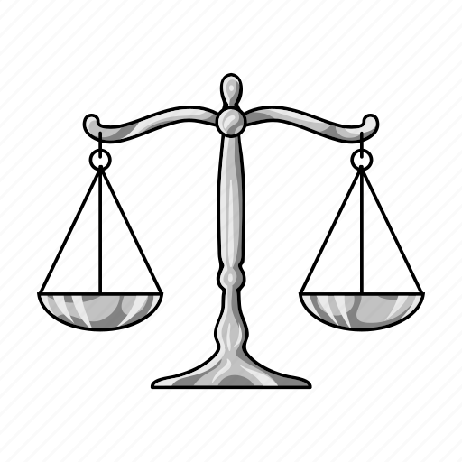 court, criminal, cup, justice, law, scales icon
