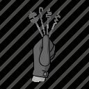 crime, criminal, gesture, glove, hand, passkey