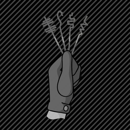 crime, criminal, gesture, glove, hand, passkey icon