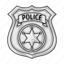cop, crime, law, officer, police, policeman, token icon