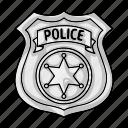 cop, crime, law, officer, police, policeman, token