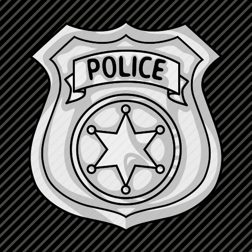 cop, crime, law, officer, police, policeman, token icon