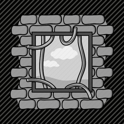 camera, crime, escape, lattice, prison icon