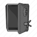money, safe, crime, cipher, robbery, hacking, cabinet icon