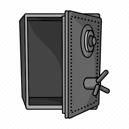 cabinet, cipher, crime, hacking, money, robbery, safe icon