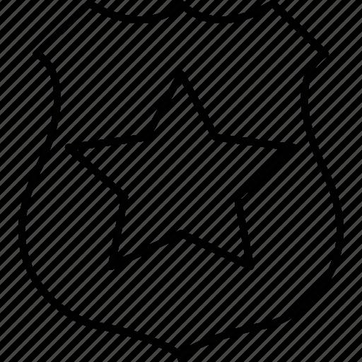 badge, crime, police, shield icon