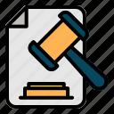document, judgement, file, hammer, legal