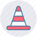 alert, cone, equipment, road security, traffic icon