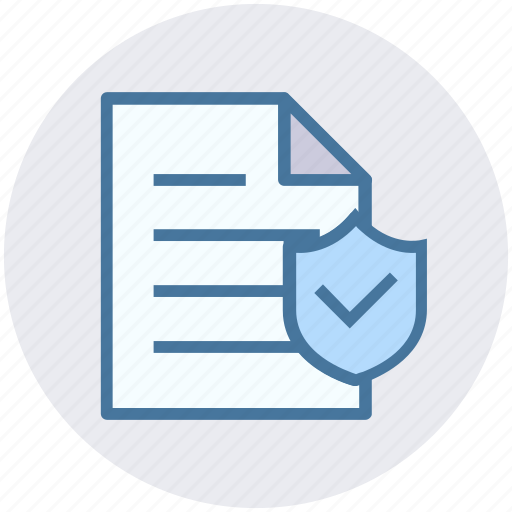 data security, document, file security, paper, shield icon