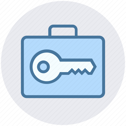 bag, bag key, bag secure, locked, suit case icon