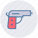 fireman, gun, handgun, pistol, weapon icon