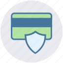 atm card, card secure, credit card, debit card, shield icon