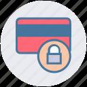 atm card, card secure, credit card, debit card, lock icon