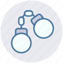 crime, handcuff, manacles, shackles, speed cuffs icon