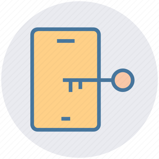 key lock, mobile, mobile code, mobile secure, password icon