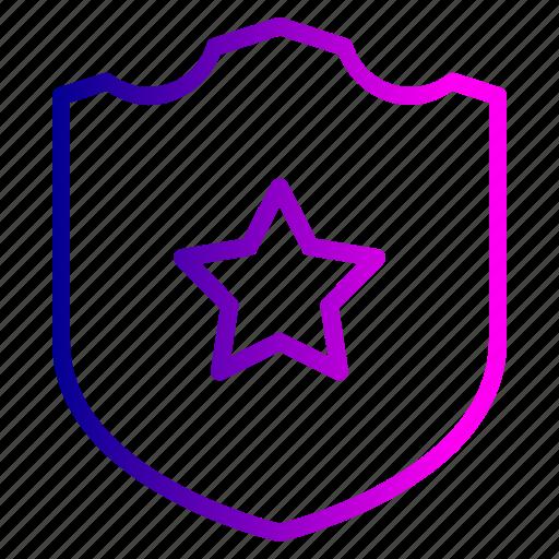 badge, batch, police, safe, sheriff, shield, star icon