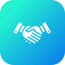 case, collboration, handshake, lawyer, partnership, solved icon