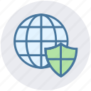cyber security, protect, security, shield, world globe