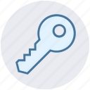 key, lock, protection, retro key, safety icon