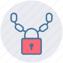 chain, crime security, lock, locked, security icon