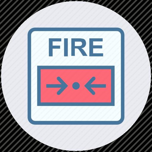 alarm, alert, alert button, emergency, fire, press button icon