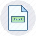 code, paper, safe document, secure file, security icon