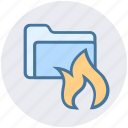 folder, folder antivirus, folder fire, password, security icon