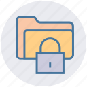 folder, folder lock, folder secure, lock, password, security icon