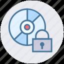 cd, disc security, disk, lock, storage