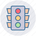 crossroad, signal, street, traffic light, transportation icon