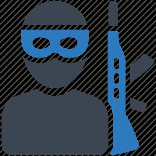 terrorism, terrorist, war icon