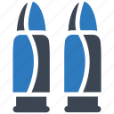 ammo, bullet, evidence icon