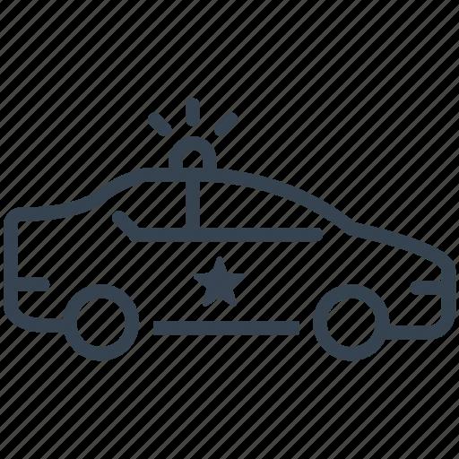 car, cop, patrol, police, security icon