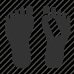dead, dead body, foot, label, serial killer, tag, victim icon
