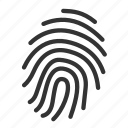 finger print, proof, evidence, finder, touch, gestureworks, security icon