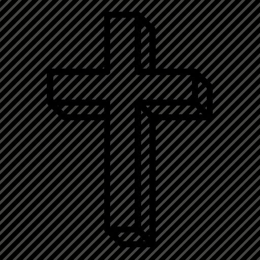abstract, catholic, christian cross, christianity, cross, religion, volume icon