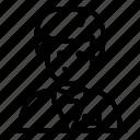 croupier, thin, vector, young, yul918 icon